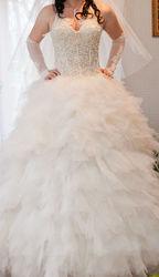 Свадебное платье цвета шампань
