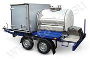 Торговый прицеп-гибрид комбинированный цистерна и фургон