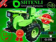 Профессиональный тяжелый мотоблок Shtenli G-192 (силач) 12 л.с./Дизель